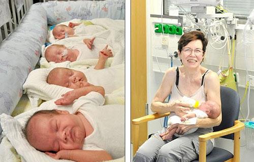 Mẹ U70, có 13 con, vẫn sinh tư thành công-2