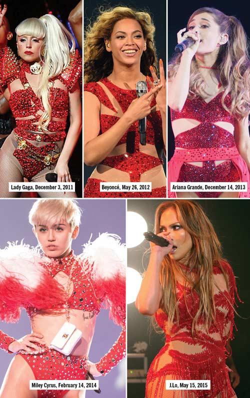 """13 kiểu đồ diễn """"đốt cháy sân khấu"""" của sao nhạc Pop-5"""