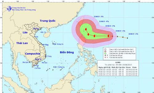 Xuất hiện siêu bão giật cấp 17 ngoài biển Đông-1