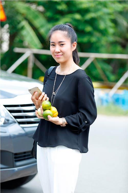"""le phuong """"tai hop"""" quy binh trong phim moi - 1"""