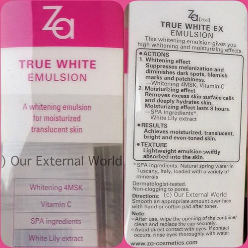 danh gia sua duong am trang da za true white emulsion - 6