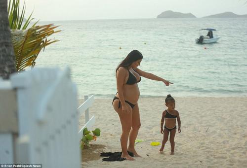 "me con kim kardashian dang yeu voi bikini ""ton sur ton"" - 5"
