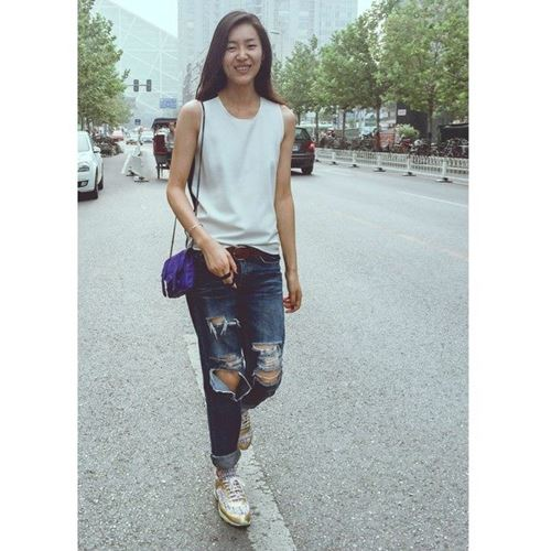 lam moi chiec quan jeans cu ky sanh dieu nhu liu wen - 7