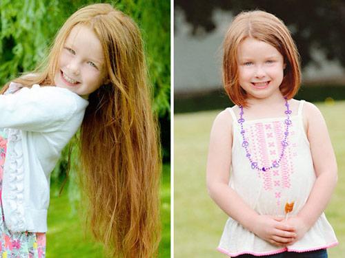 Bé 5 tuổi cắt tóc tặng bạn nhỏ bị ung thư-5