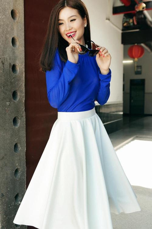 Diễm Trang đẹp rạng ngời sau khi công khai chồng sắp cưới-11