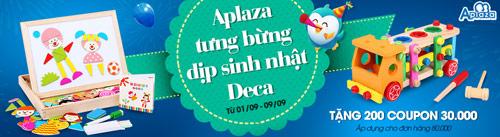 aplaza giam gia + tang coupon mung sinh nhat deca - 1