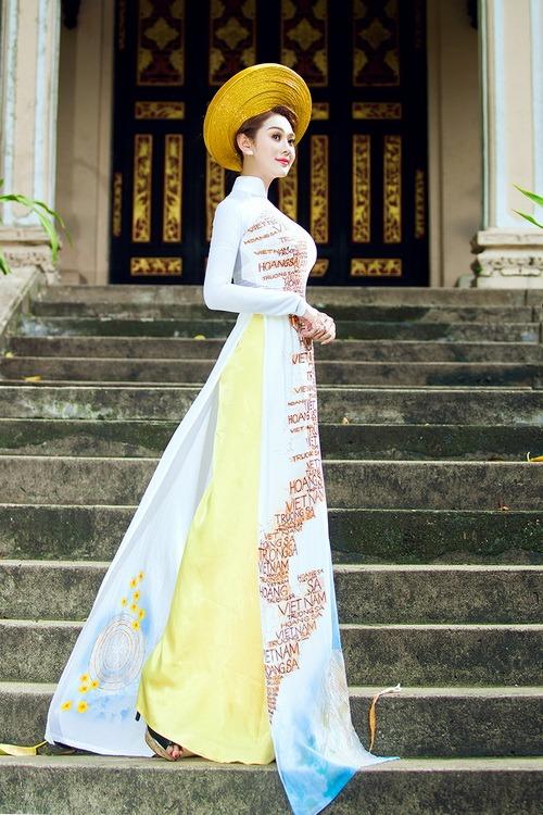 Lâm Chi Khanh mặc áo dài tha thướt như thiếu nữ - 9