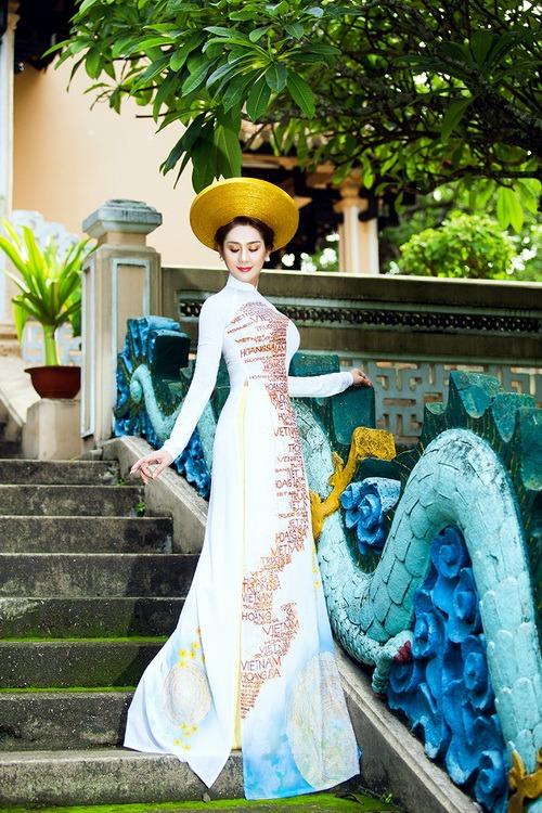 Lâm Chi Khanh mặc áo dài tha thướt như thiếu nữ - 10