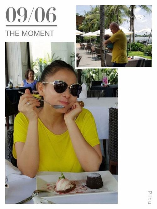 Thu Minh hạnh phúc nhìn chồng cưng nựng con trai - 1