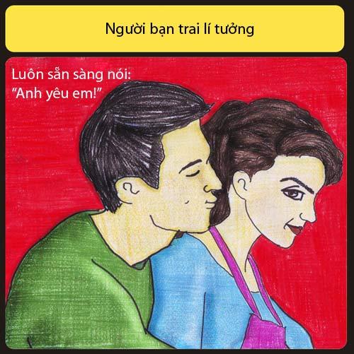 ban trai ly tuong khong liec mat nhin co gai khac - 1