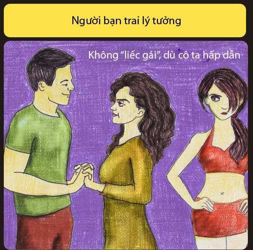 ban trai ly tuong khong liec mat nhin co gai khac - 2