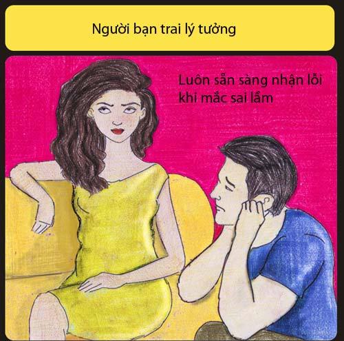 ban trai ly tuong khong liec mat nhin co gai khac - 8