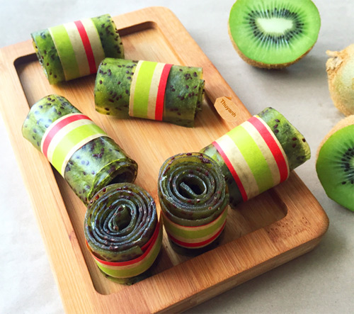 keo cuon kiwi thom ngon dep mat cho bé - 9