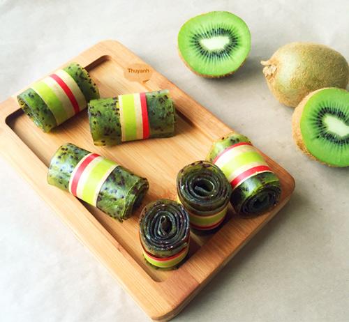 keo cuon kiwi thom ngon dep mat cho bé - 8