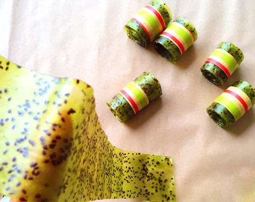 keo cuon kiwi thom ngon dep mat cho bé - 7