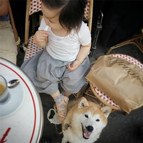 """tan chay"" voi tinh ban cua co be phap 2 tuoi va cho cung - 9"