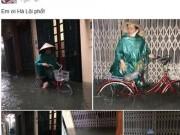 """Tin trong nước - Dân mạng """"hãi hùng"""" chia sẻ ảnh ngập lụt Hà Nội"""