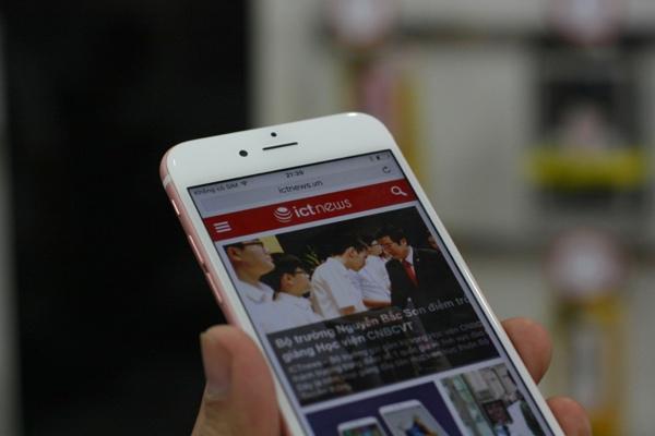 can canh iphone 6s mau vang hong dau tien ve viet nam - 2