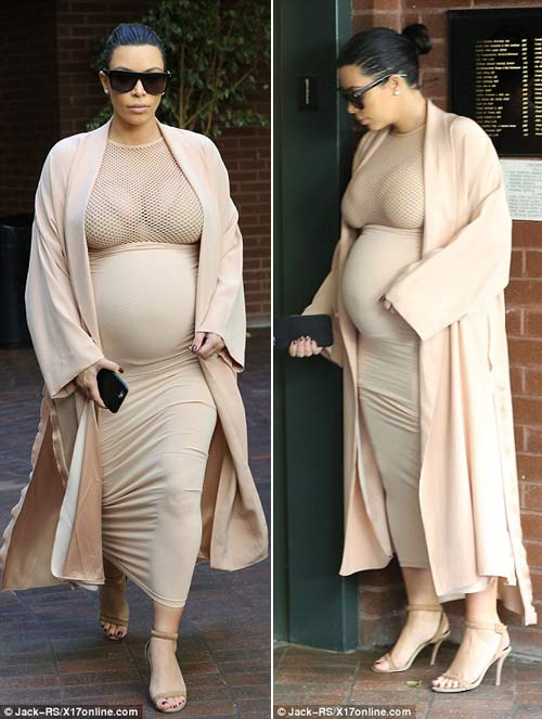 kim kardashian lo co the map u khi mang bau 6 thang - 4