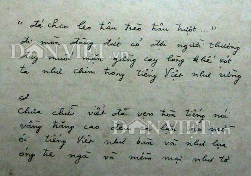 "tranh cai ve bai tho ""tieng viet"": ban nao la chuan, ban nao hay? - 1"