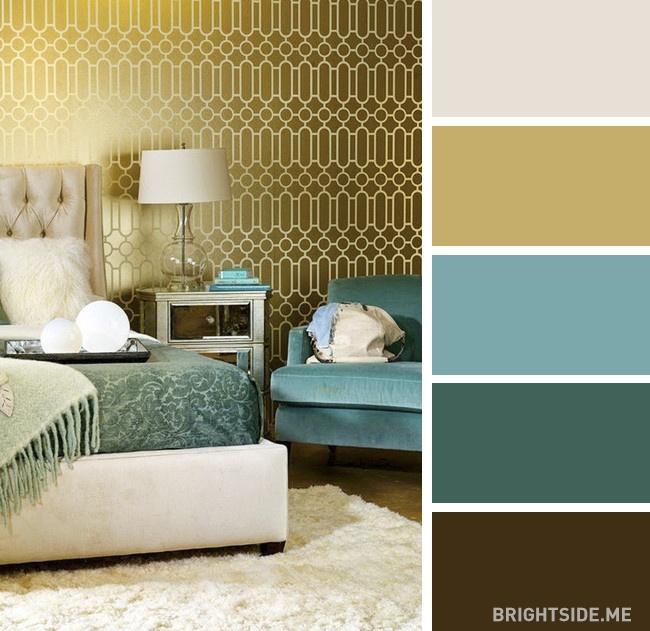 20 bộ màu hoàn hảo cho phòng ngủ hiện đại và phong cách-20