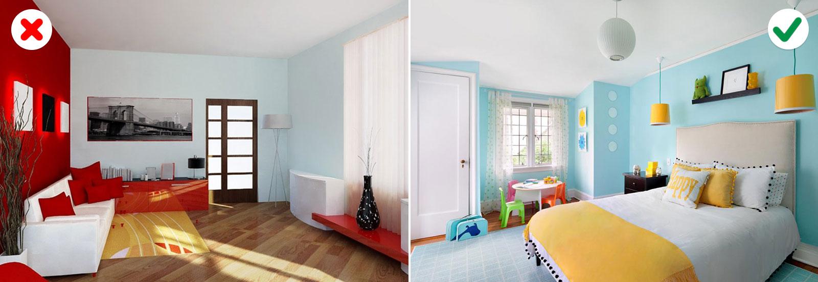 10 sai lầm về màu sắc khiến căn nhà trở nên xấu xí-6