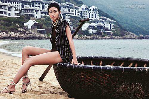 Mâu Thủy lên trang bìa tạp chí thời trang Macao-7