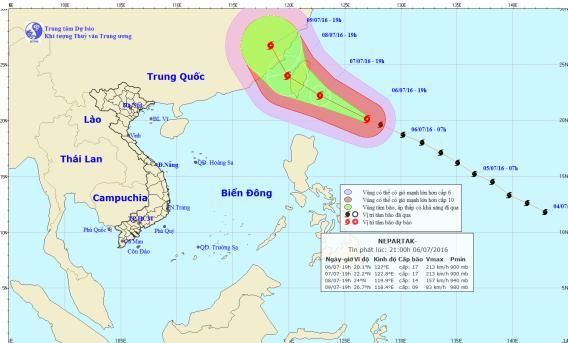 Xuất hiện siêu bão Nepartak gần Biển Đông-1
