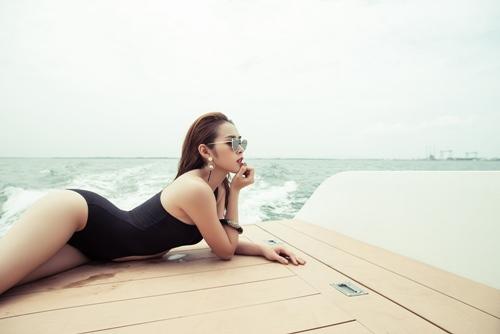diep bao ngoc tu tin khoe vong eo 58cm voi bikini - 3