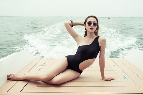 diep bao ngoc tu tin khoe vong eo 58cm voi bikini - 4