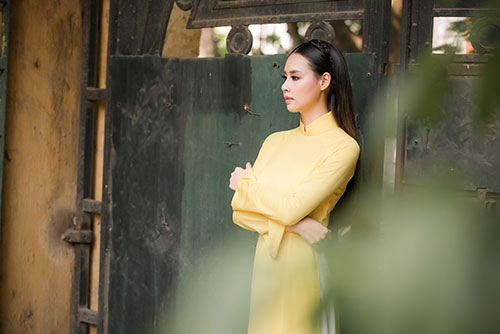 hoa hau bien 2016 thuy trang mong manh voi ao dai - 9