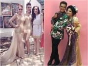 Làng sao - Khánh Thi, Vy Oanh, Lâm Chi Khanh lộng lẫy dự đám cưới MC Thanh Bạch ở quê