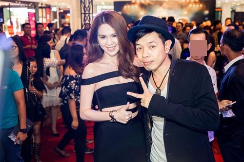 ngoc trinh dien vay sexy den chuc mung thai hoa - 4