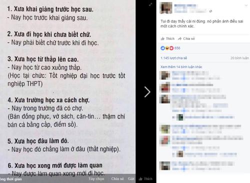 6 dieu so sanh giao duc xua va nay duoc cong dong mang chia se 'chong mat' - 1