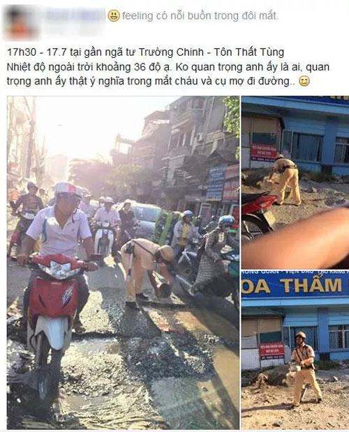 hanh dong bat ngo cua csgt duoi nang nong gay sot mang - 1