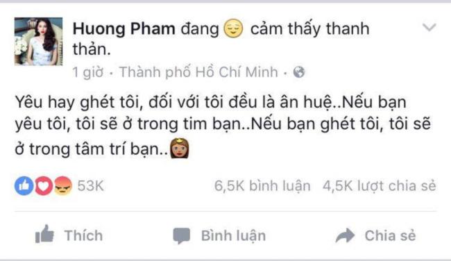 """pham huong len tieng sau khi bi """"ca the gioi quay lung"""" - 5"""