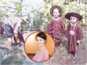 Làng sao - Nhà có điều kiện, Diva Hồng Nhung vẫn không ngại để con lội ruộng lấm lem