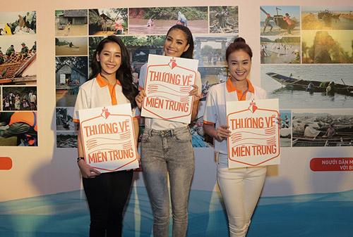 """pham huong lan dau xuat hien cung hoc tro sau """"bao"""" the face - 5"""
