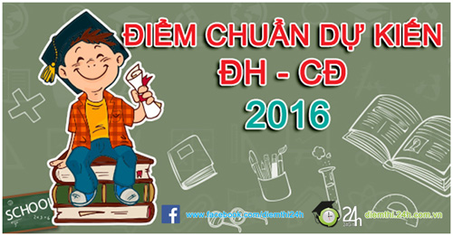 danh sach cac truong cong bo diem chuan dai hoc du kien 2016 - 2