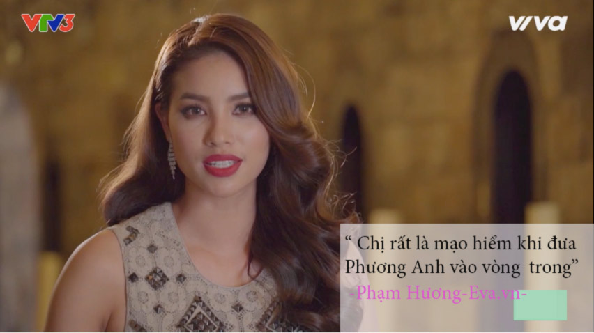 "the face tap 7: ha ho, lan khue ""tra thu"" pham huong nhu the nay day! - 3"