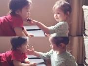 Làng sao - Cadie Mộc Trà bị ốm vẫn hết lòng chăm sóc em trai