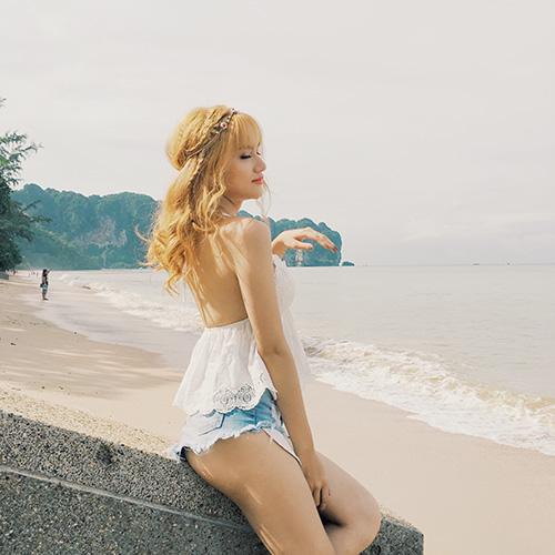 neu ban co mot mai toc vang choe, hay hoc huong giang idol - 3