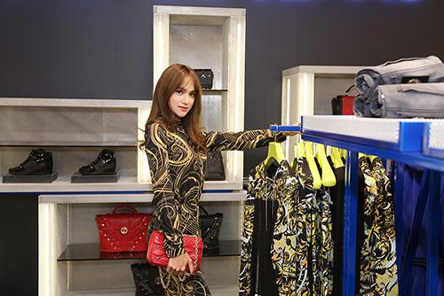 """huong giang idol dien """"cay"""" hang hieu di mua sam - 5"""