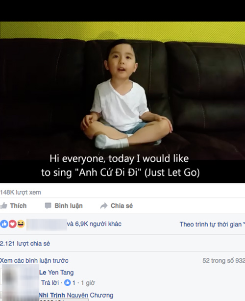 "than the gay soc cua cau be 4 tuoi cover ""anh cu di di"" xon xao dan mang - 1"