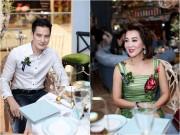 """Sao Việt - MC Kỳ Duyên và bạn trai kém tuổi """"ngại ngùng"""" chụp hình chung"""