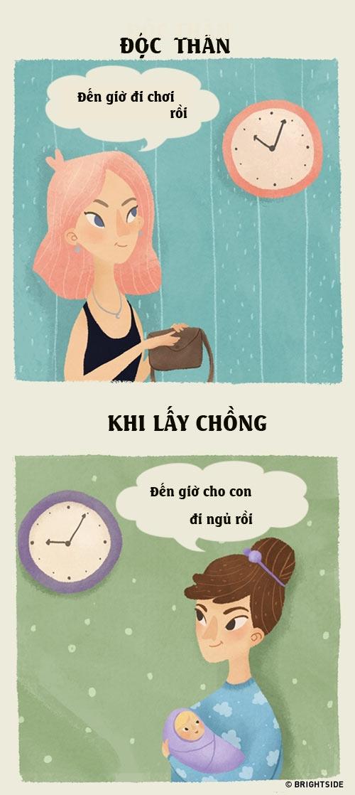 su khac nhau giua phu nu co chong va chua chong - 1