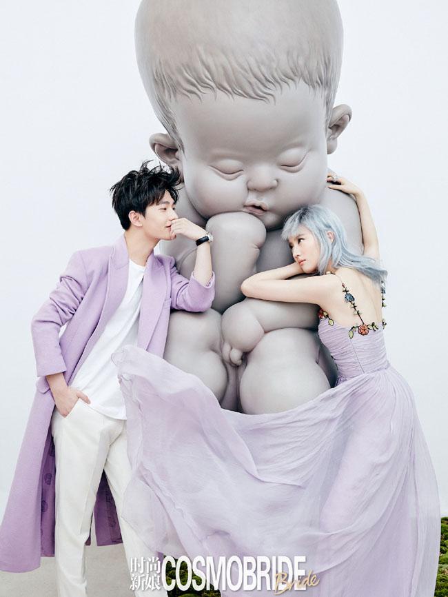 Lưu Diệc Phi và Dương Dương khiến khán giả cảm thấy bối rối với bộ ảnh cưới trên tạp chí Cosmo Bride.