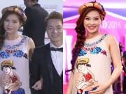 Làng sao - Bụng bầu sắp sinh, Á hậu Diễm Trang ngơ ngác vì MC nhầm là vợ Đăng Khôi
