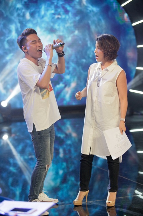 Diva Mỹ Linh xinh đẹp đi dạy hát cho thí sinh Vietnam Idol-14