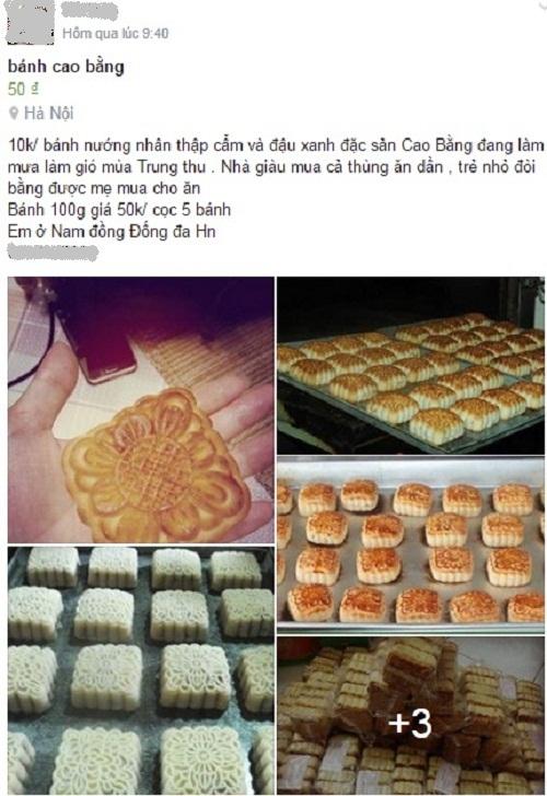 Bánh Trung thu nướng giá siêu rẻ 4.000 đồng được bán online tràn lan-1
